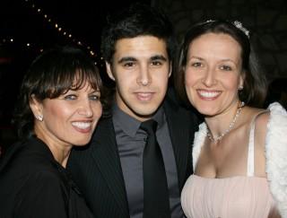 Picture of Gary Brunson's family Marina Brunson, son David Elkin, and Katya Stromblad.