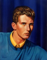 Painting of John Brunson by Gary Brunson for art gallery