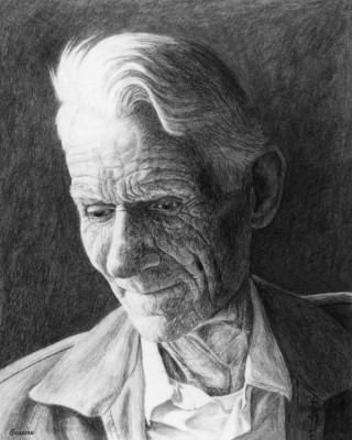 Charcaol drawing of Walter Brunson by Gary Brunson