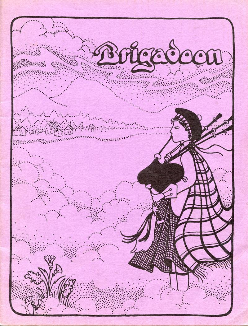 """Program Cover for """"Brigadoon"""""""