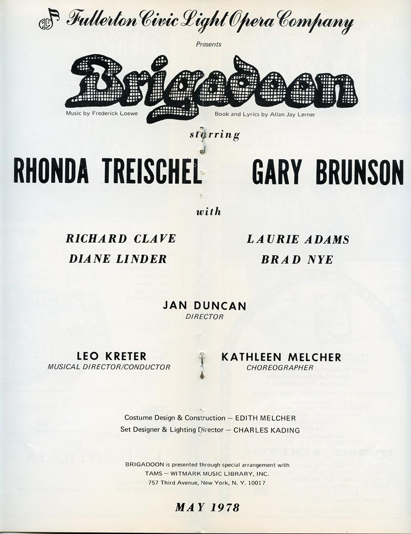 Brigadoon Main Credits