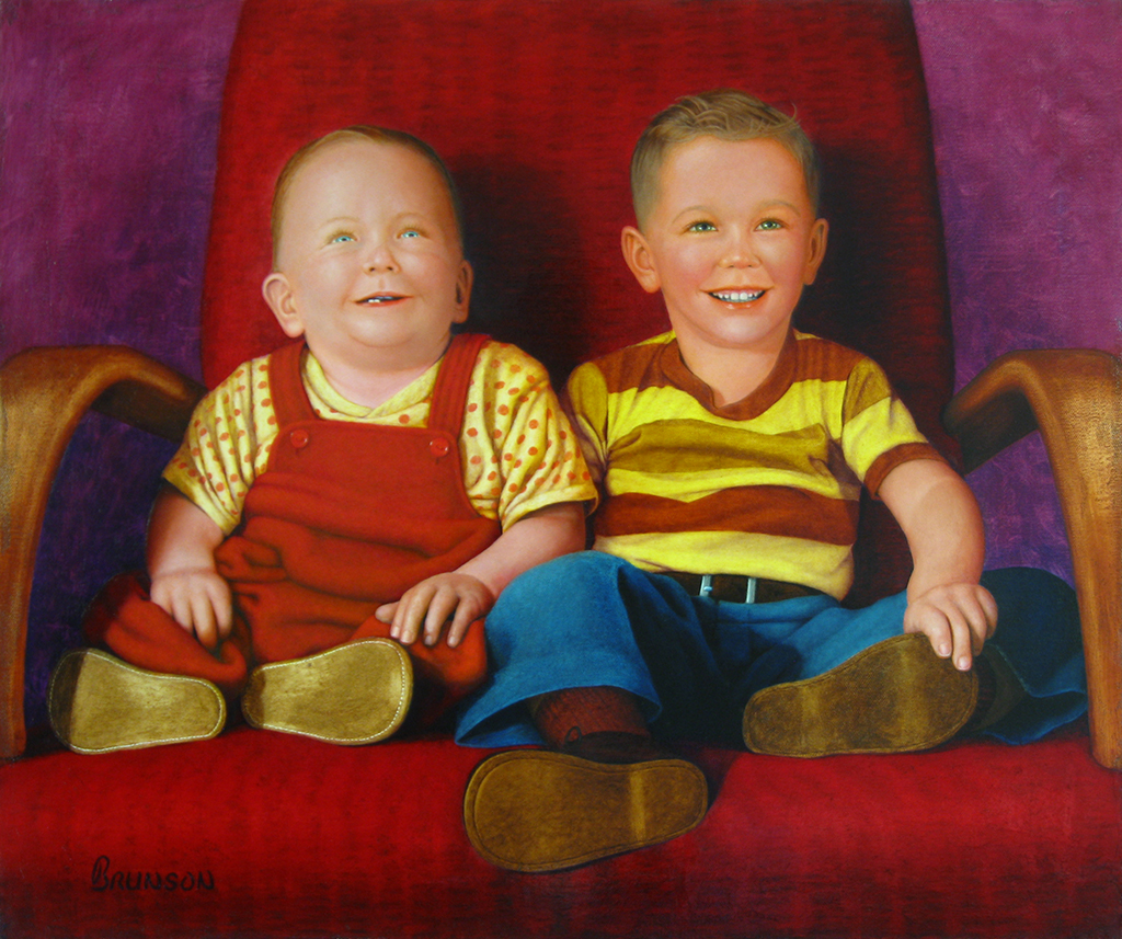 Brothers. Oil Painting by Gary Brunson